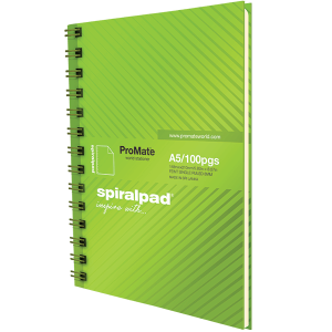 ProMate A5 Hardcover Flip-on Spiral Pad 100Pgs