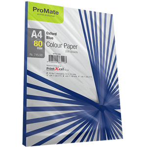 ProMate Colour Paper Oxford Blue A4-80 GSM 250 Sheet Pack