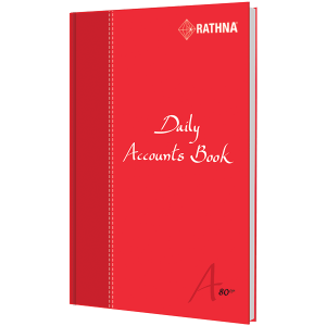 Rathna A5 Daily Accounts Book 20 Rules