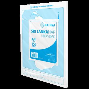Rathna Sri Lanka Map Undivided - 100 Sheets Pack