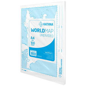 Rathna World Map Undivided - 100 Sheets Pack