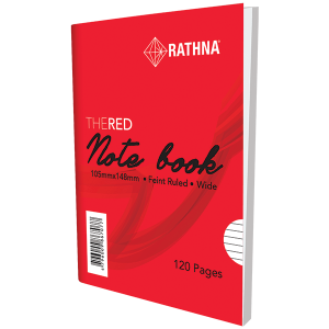 Rathna A6 Red-Cover Notebook 120Pgs