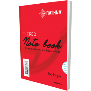 Rathna A6 Red-Cover Notebook 160Pgs