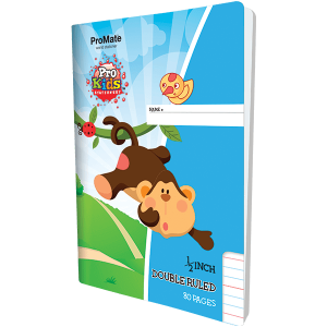 ProMate EX Double Ruled Half Inch Book 80Pgs