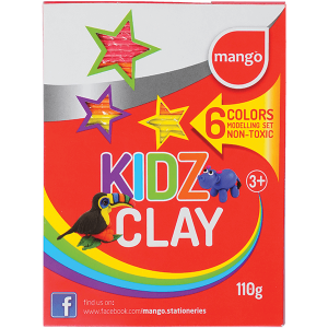 Rathna Kidz Clay Strips 110g - 6 Colors Pack