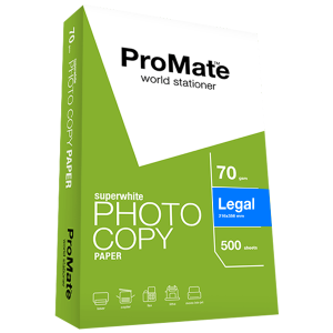 ProMate Photocopy Paper 70GSM Legal 500 Sheets Pack