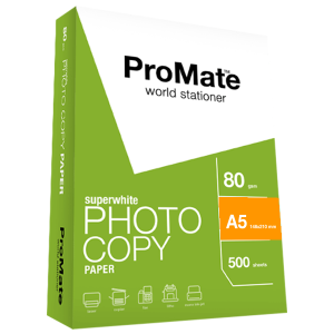 ProMate Photocopy Paper 80GSM A5 500 Sheets Pack