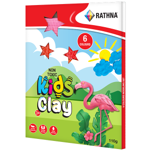 Kidz Clay Strips 110g - 6 Colours Pack