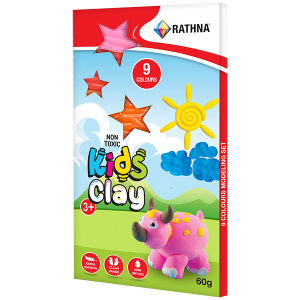 Kidz Clay Strips 60g - 9 Colours Pack