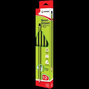 HB Pencil Neon Green 12Pcs Pack