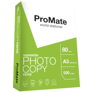 ProMate Photocopy Paper 80GSM A3 500 Sheets Pack